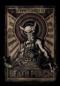 5 Finger Death Punch Fabric Poster Flag   F206