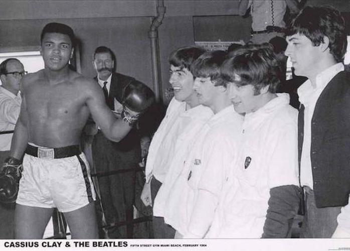 Beatles with Cassius Clay [eu] muhammad ali