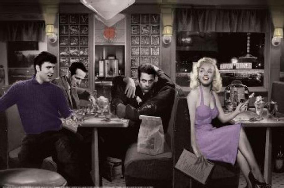 Blue Plate Diner marilyn monroe, elvis, james dean,, bogart