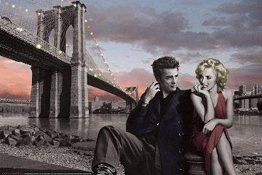Brooklyn Bridge marilyn monroe, elvis, james dean, consani