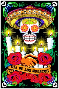 Day of the Dead Blacklight  wp