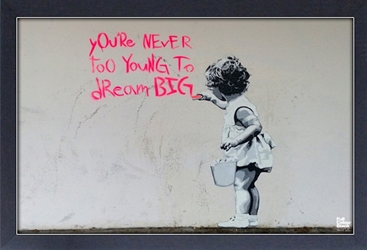 Framed Mini Poster - Banksy Dream Big
