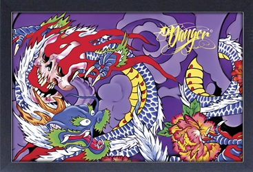 Framed Mini Poster - Danger Purple Dragon