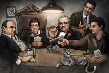 Gangsters Playing Poker  mafia gangster