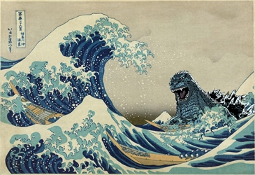Godzilla Great Wave wp
