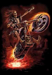 Hell Rider Fabric Poster Flag