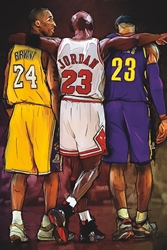 Kobe, Jordan, LeBron wp chicago bulls los angeles lakers cleveland cavaliers