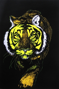 Vibrant Tiger Blacklight