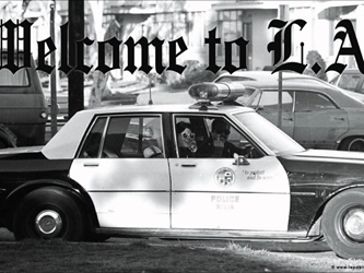 Welcome to L.A. (Cop Giving The Finger) wp
